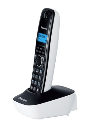 Р/Телефон Dect Panasonic KX-TG1611RUW белый/черный АОН