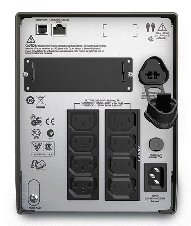 ИБП APC Smart-UPS SMT1500I 1000Вт 1500ВА черный