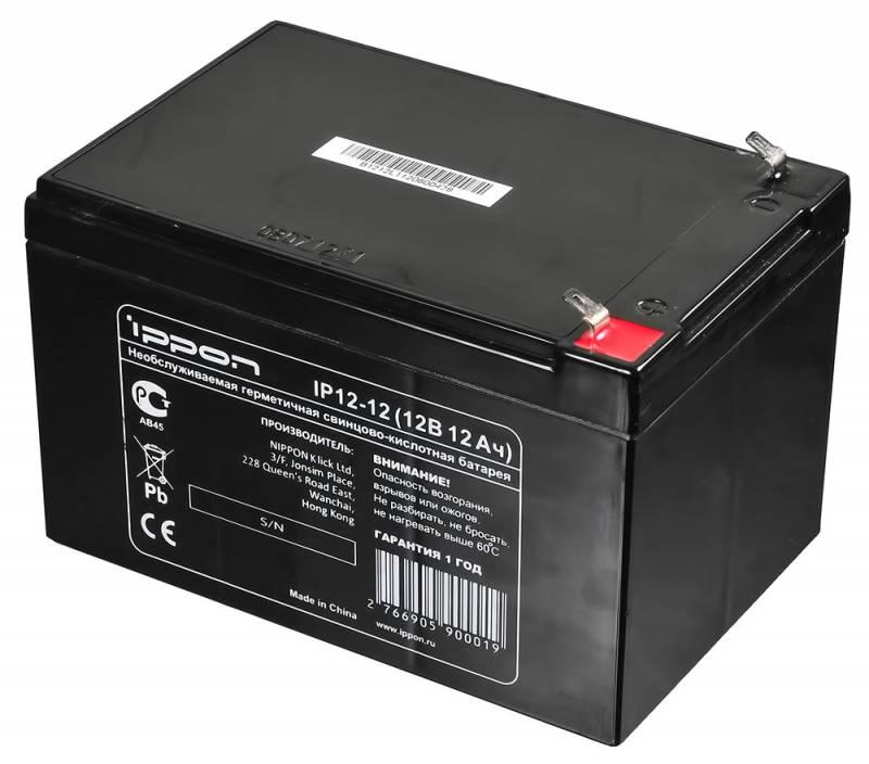 Аккумулятор Ippon IP12-12 12В 12Ач