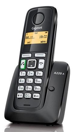 Р/Телефон Dect Gigaset A220A черный автооветчик АОН