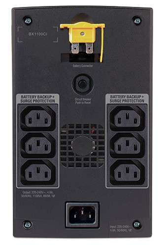 Аккумулятор для ИБП APC Back-UPS 1100VA with AVR, Schuko Outlets for Russia, 230V