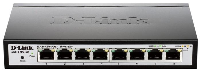 Коммутатор D-Link DGS-1100-08/B1A 8G управляемый
