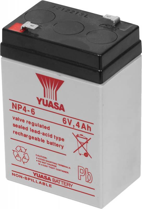 Аккумулятор Yuasa NP4-6 6В 4Ач