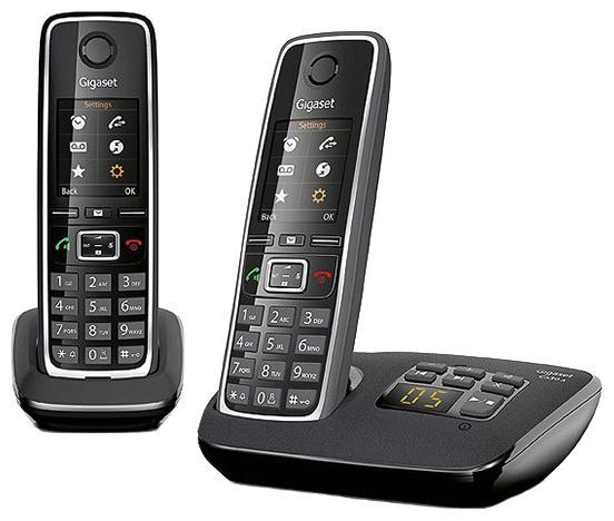 Р/Телефон Dect Gigaset C530A DUO черный (труб. в компл.:2шт) автооветчик АОН