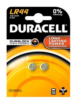 Батарея Duracell LR44-2BL A76 (2шт)
