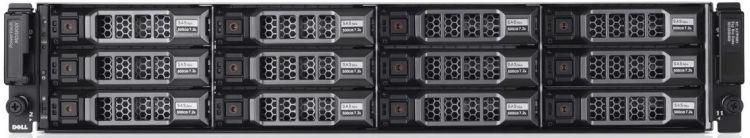 Дисковый массив Dell MD3800f x12 4x3Tb 7.2K 3.5 NL SAS 2x600W PNBD 3Y 4x16G SFP/4Gb Cache (210-ACCS-41)