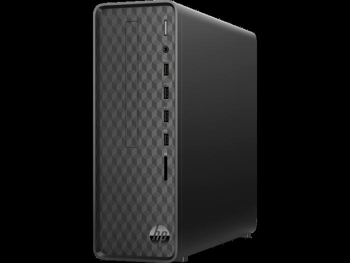 ПК HP Slimline S01-aF0002ur Ath 3050U (2.3)/4Gb/SSD128Gb/RGr/Free DOS 3.0/GbitEth/WiFi/BT/65W/черный