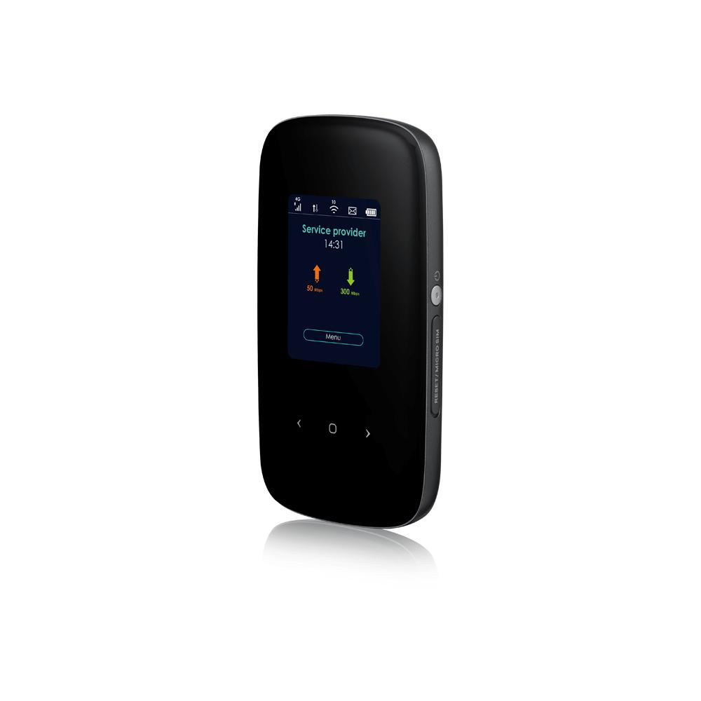 Модем 2G/3G/4G Zyxel LTE2566-M634-EUZNV1F micro USB Wi-Fi Firewall +Router внешний черный