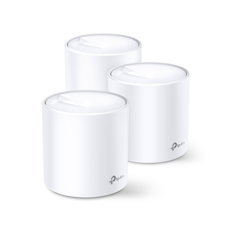 Бесшовный Mesh роутер TP-Link DECO X20(3-PACK) AX1800 10/100/1000BASE-TX белый
