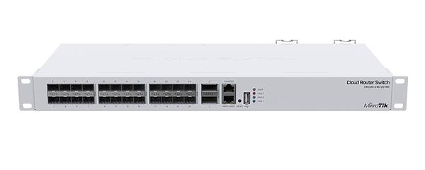Коммутатор MikroTik CRS326-24S+2Q+RM 1x100Mb 24SFP+ управляемый
