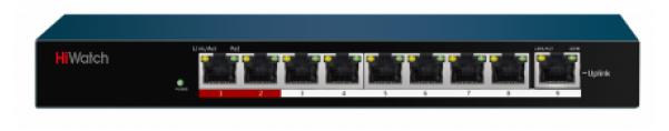Коммутатор Hikvision HiWatch DS-S908P(B)