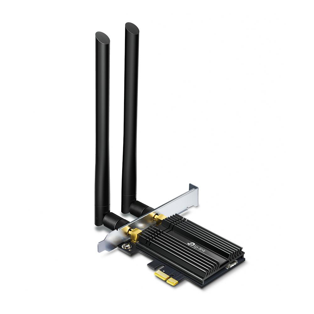 Сетевой адаптер WiFi + Bluetooth TP-Link Archer TX50E AX3000 PCI Express (ант.внеш.несъем.) 2ант.