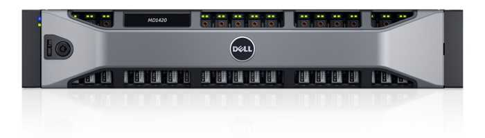 Дисковая полка Dell MD1420 x24 2.5 2x600W PNBD 3Y (210-ADBP-25)