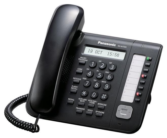 Телефон IP Panasonic KX-NT551RU-B черный