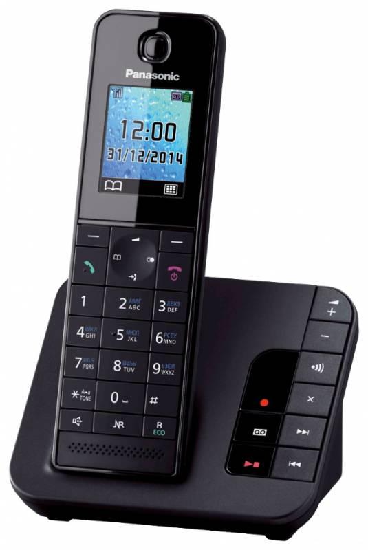 Р/Телефон Dect Panasonic KX-TGH220RUB черный автооветчик АОН