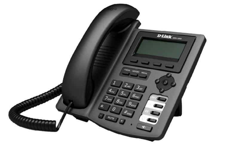 Телефон IP D-Link DPH-150S/F5B черный