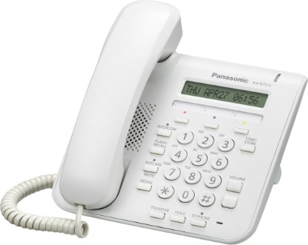 Телефон IP Panasonic KX-NT511ARUW белый
