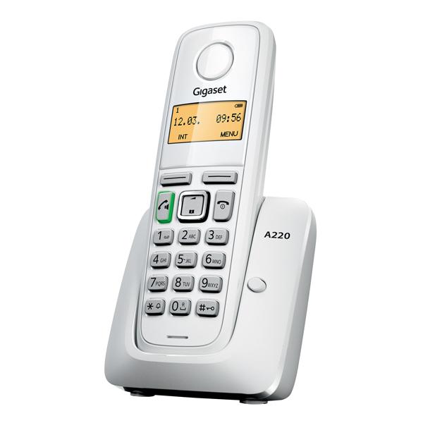 Р/Телефон Dect Gigaset A220 белый