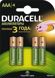 Аккумулятор Duracell HR03 AAA (4шт. уп)