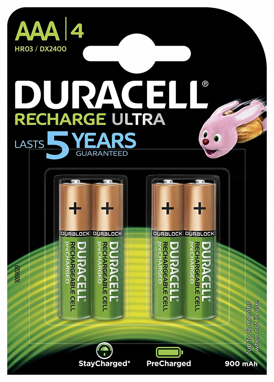 Аккумулятор Duracell Rechargeable HR03-4BL AAA NiMH 900mAh (4шт)