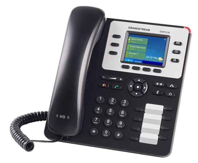 Телефон IP Grandstream GXP-2130 серый (GXP-2130V2)