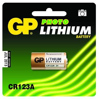 Батарея GP Lithium CR123A (1шт)
