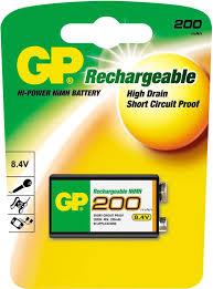 Аккумулятор GP 20R8H 9V NiMH 200mAh (1шт)