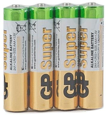 Батарея GP Super Alkaline 24ARS LR03 AAA (4шт) спайка