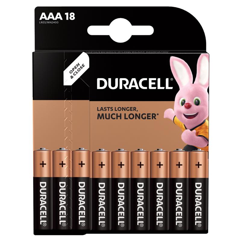 Батарея Duracell Basic LR03-18BL MN2400 AAA (18шт)