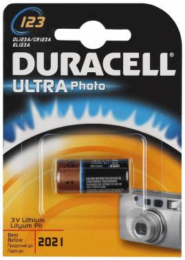 Батарейка Duracell Ultra CR123A