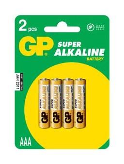 Батарейка GP Super Alkaline 24A LR03 AAA (4шт. уп)