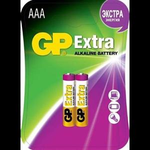 Батарея GP Extra Alkaline 24AX LR03 AAA (2шт) блистер