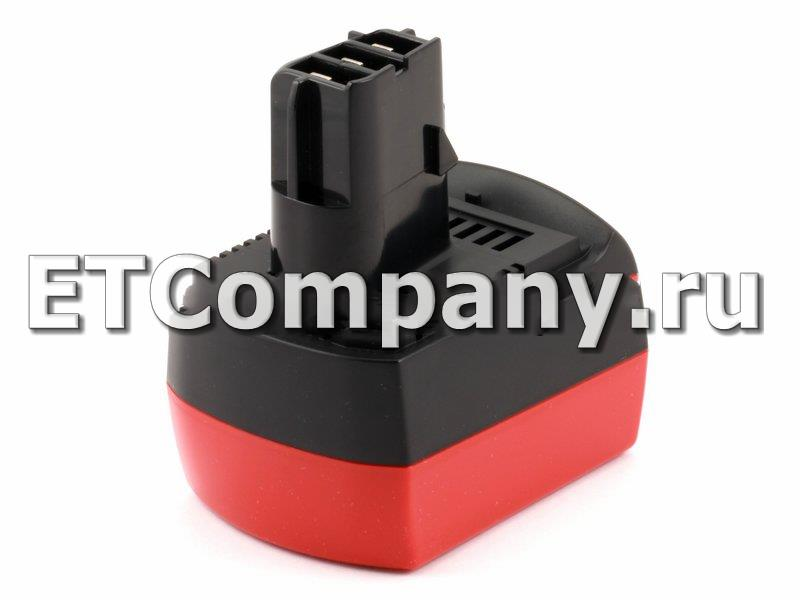 Аккумулятор Metabo BS 12 SP, BSZ 12 Impuls, BZ 12 SP, SSP 12, ULA 9.6-18 BSZ Li-ion, усиленный