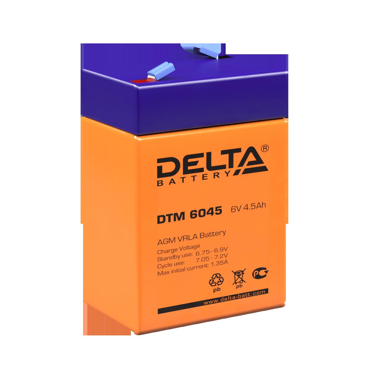 Аккумулятор DELTA DTM 6045