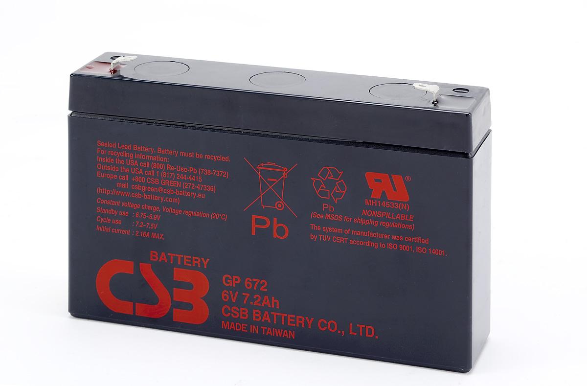 Аккумулятор CSB GP672