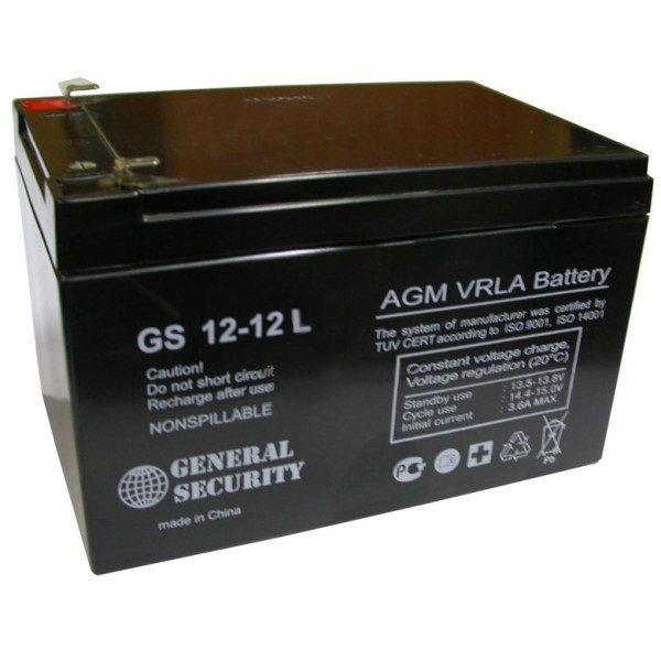 Аккумулятор General Security GS 12-12 L