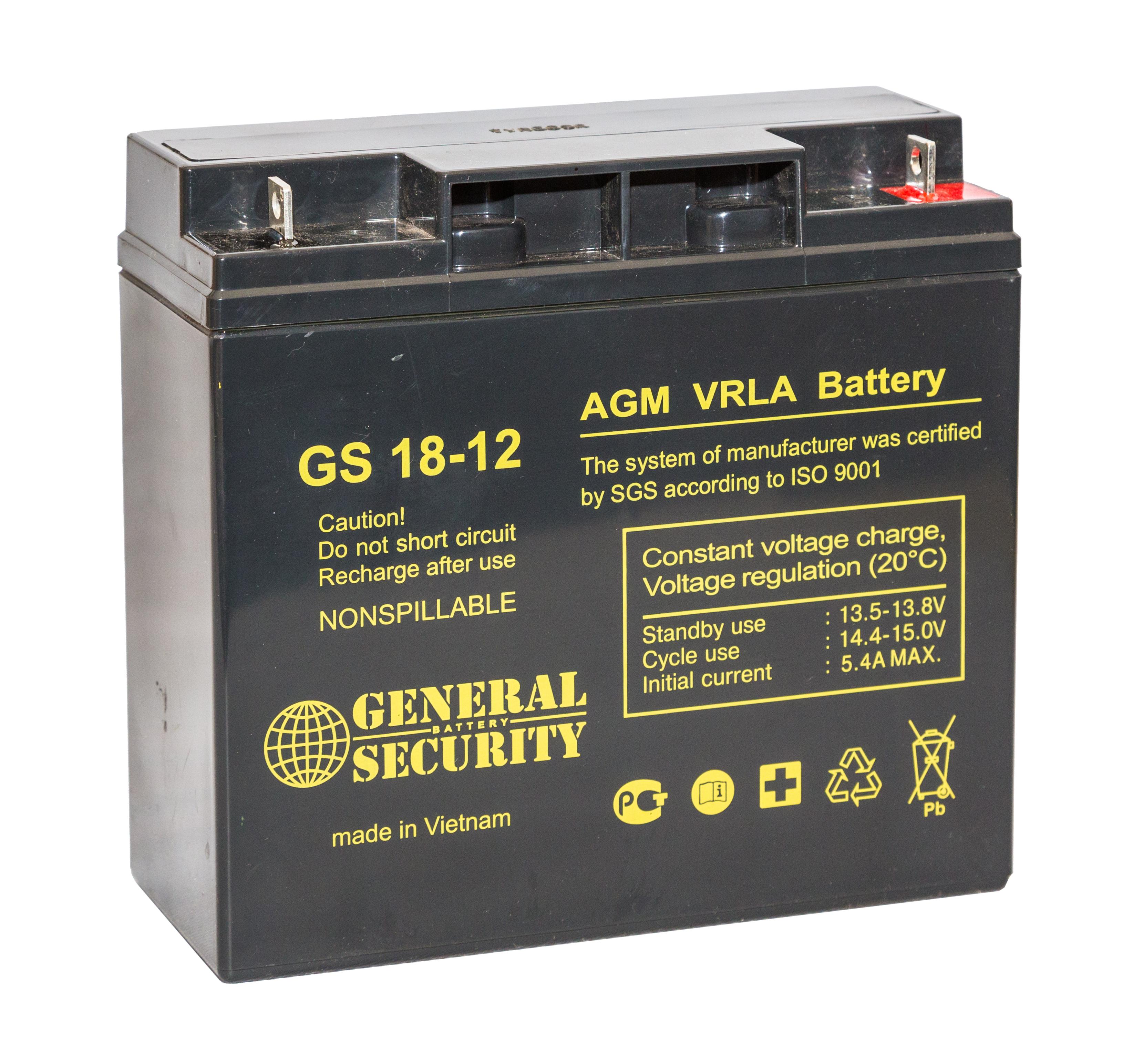 Аккумулятор General Security GS 18-12