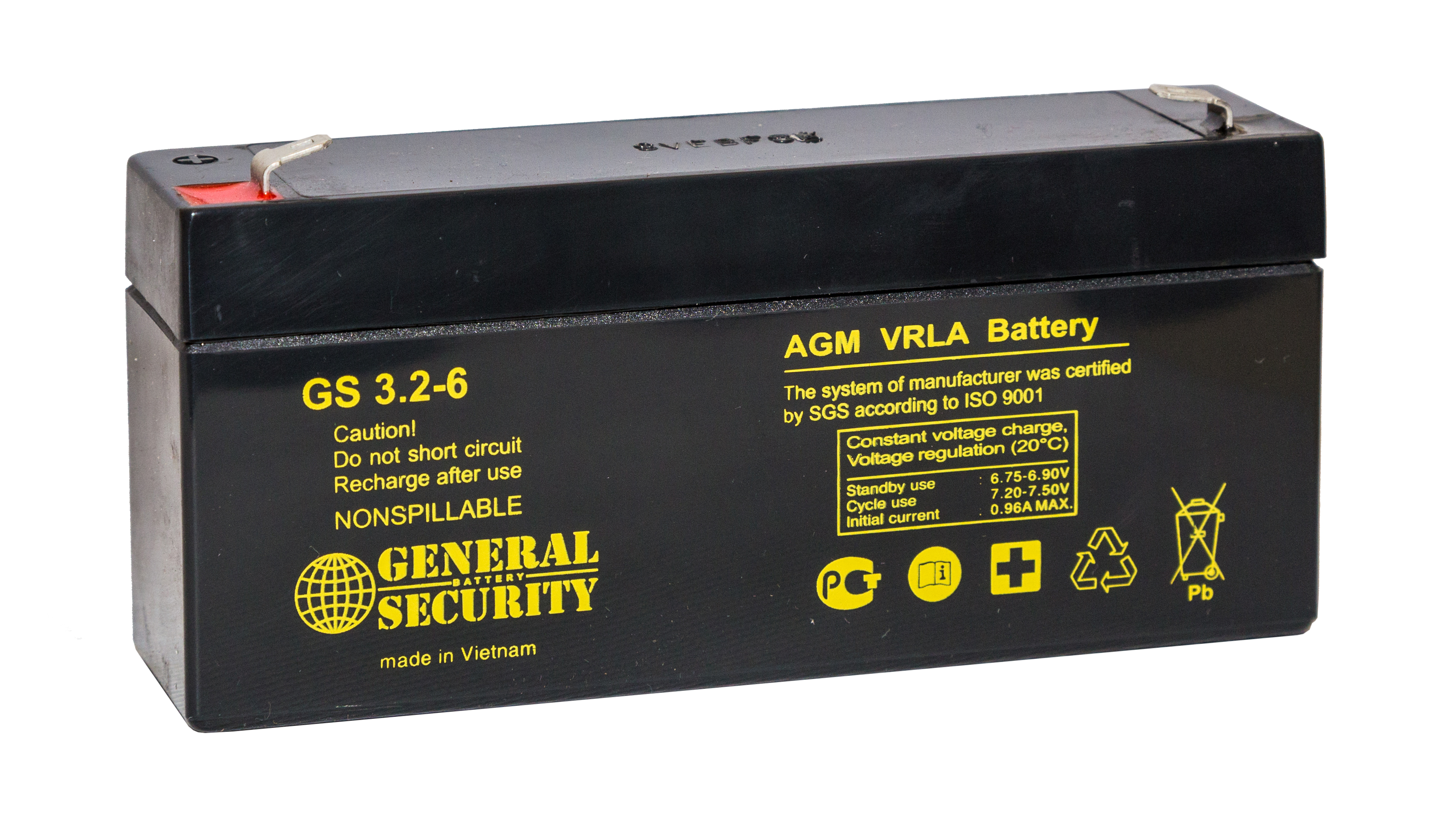 Аккумулятор General Security GS 3.2-6 L