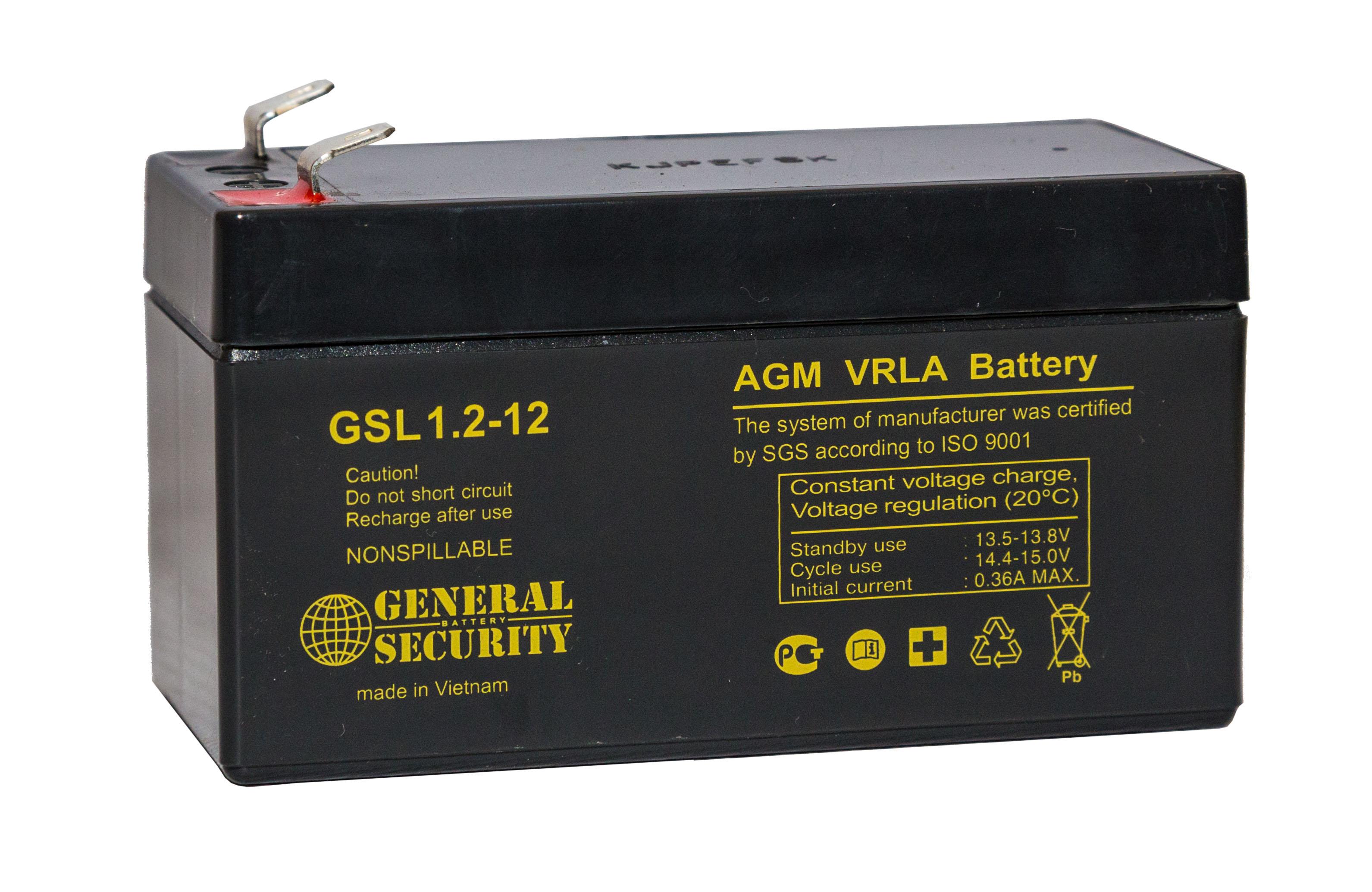 Аккумулятор General Security GSL1.2-12