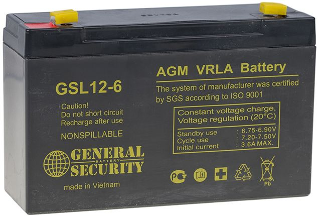 Аккумулятор General Security GSL12-6