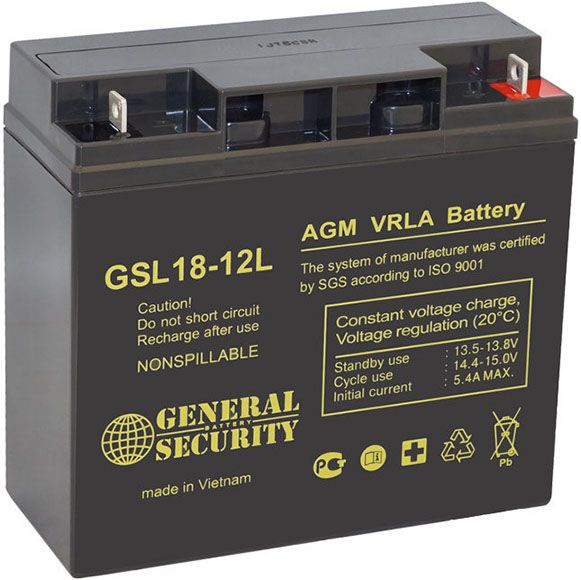 Аккумулятор General Security GSL18-12L