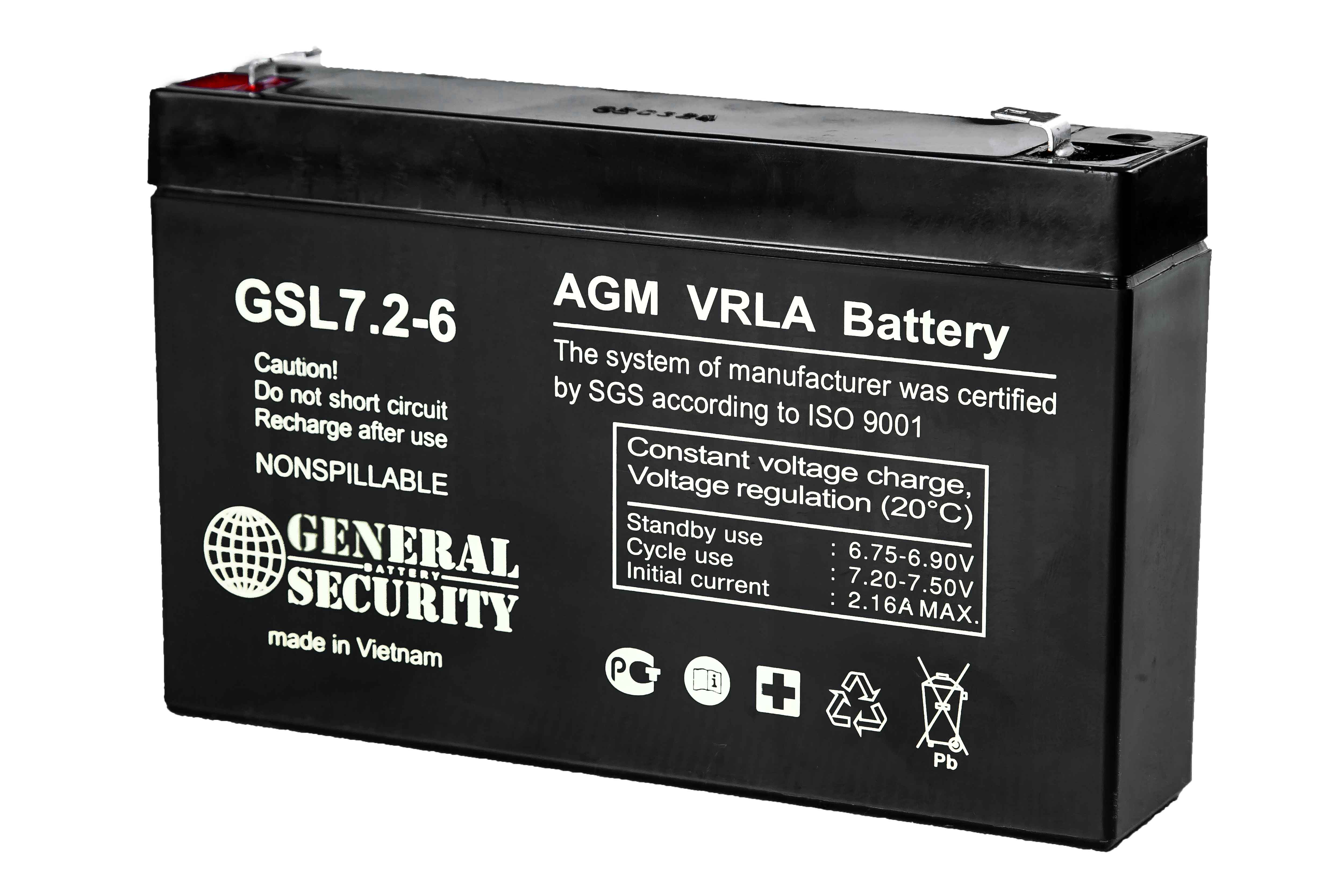 Аккумулятор General Security GSL7.2-6