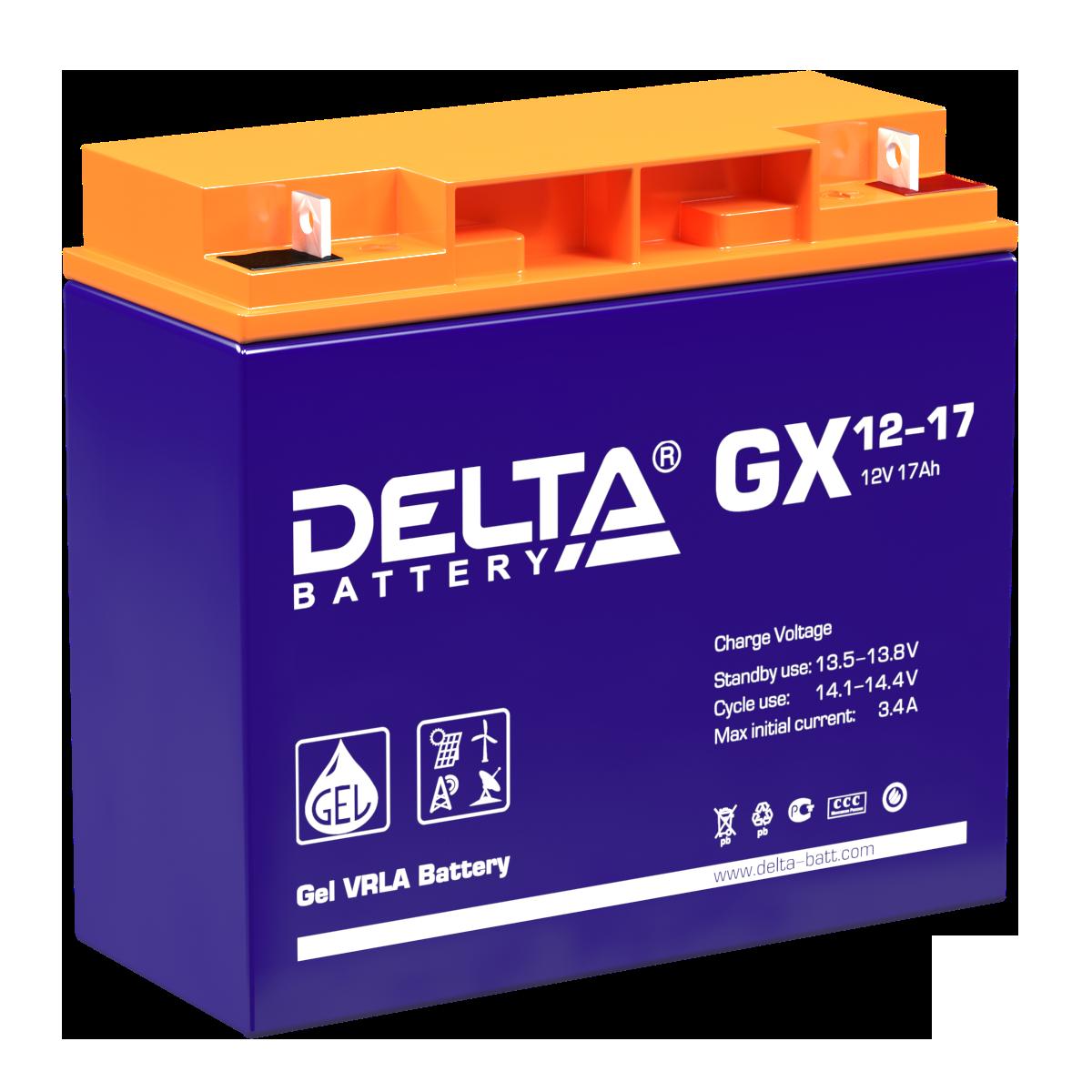 Аккумулятор DELTA GX 12-17