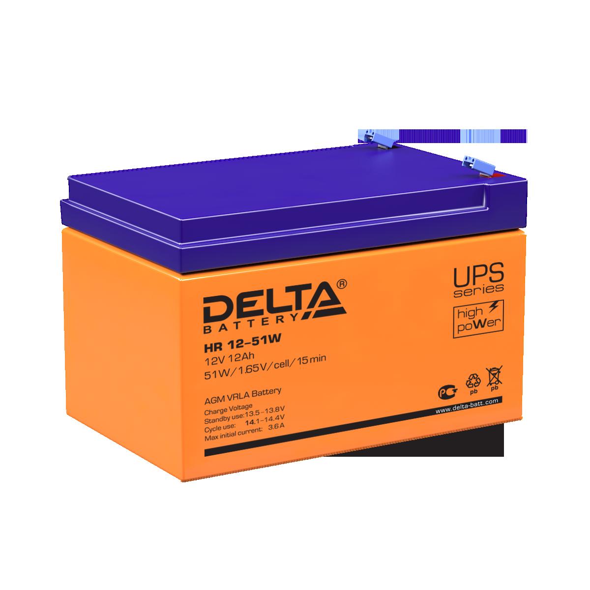 Аккумулятор DELTA HR 12-51 W