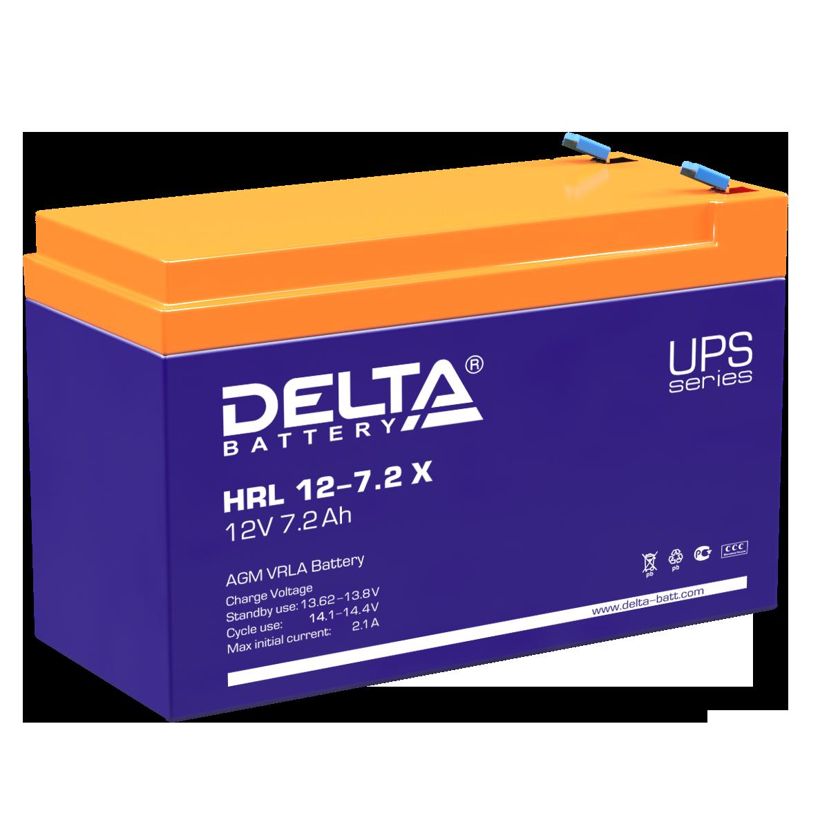 Аккумулятор DELTA HRL 12-7.2 X